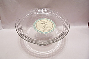 Anchor Hocking Crystal Pedestal Cake Platter