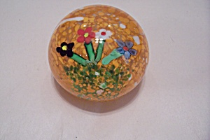 Floral Motif Paperweight