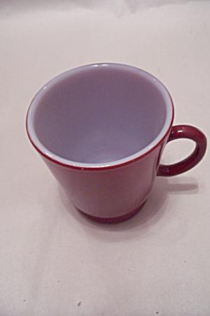 FireKing/Anchor Hocking Maroon Glass Cup (Image1)