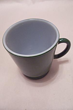 FireKing/Anchor Hocking Green Glass Cup (Image1)