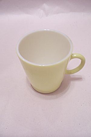 FireKing/Anchor Hocking Lemon Colored Glass Cup (Image1)