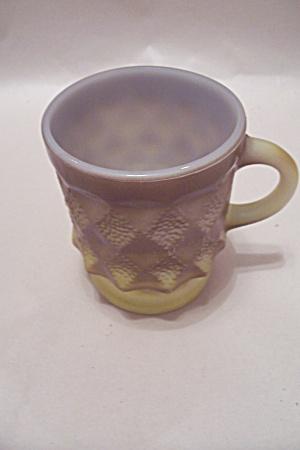 FireKing Brown & Yellow Glass Mug (Image1)