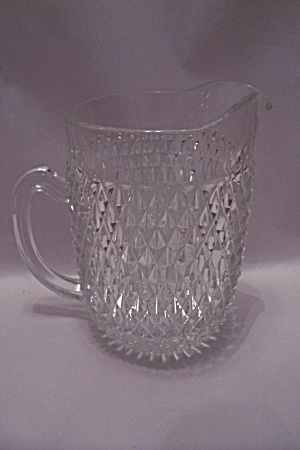 English Hobnail Crystal Glass Pitcher (Image1)
