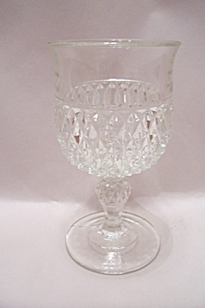 English Hobnail Crystal Glass Pedestal Tumbler (Image1)