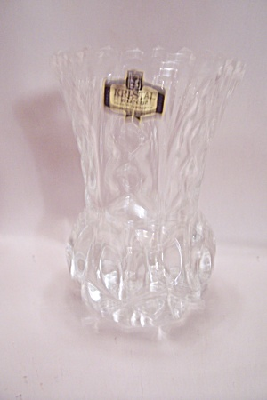 Zajecar Kristal Glass Pineapple Shaped Vase