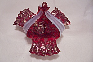 MURANO Handblown Cased Art Glass Basket (Image1)