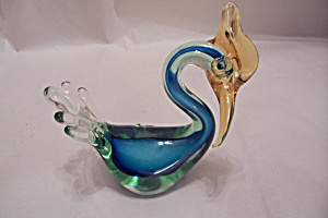 Murano Handblown Cased Art Glass Bird