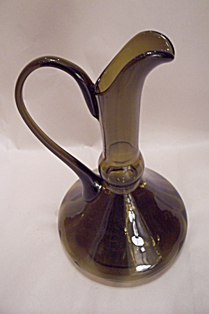 Avacado Green Handblown Art Glass Pitcher