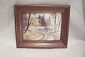 Rural Woodland Scene Print By Bill Shaddix