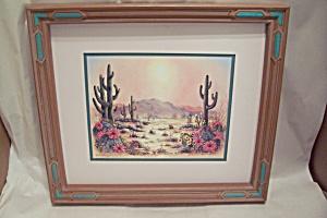 Southwestern Desert Flowers & Cacti Print (Image1)