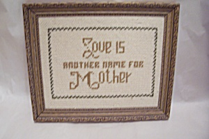 Needlecraft Tribute To Mother (Image1)