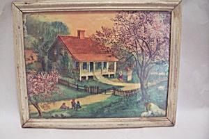 Vintage Rural Farm Scene Print (Image1)