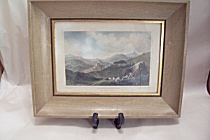 Vintage Italian Castel Buno Hand Colored Print (Image1)