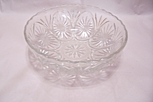 Anchor Hocking Crystal Glass Patterned Bowl