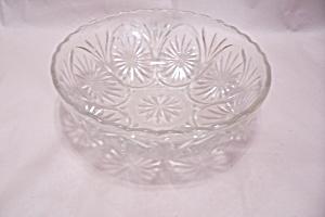 Anchor Hocking Crystal Glass Patterned Bowl (Image1)