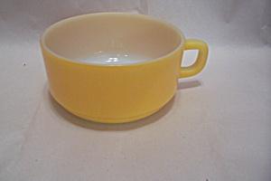 FireKing Yellow Handled Soup Bowl (Image1)