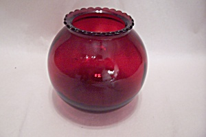 FireKing Royal Ruby Vase (Image1)