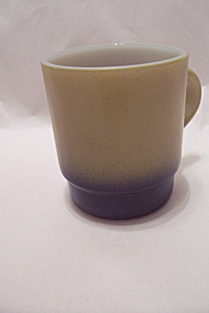 FireKing Light Olive Green And Black Base Glass Mug (Image1)