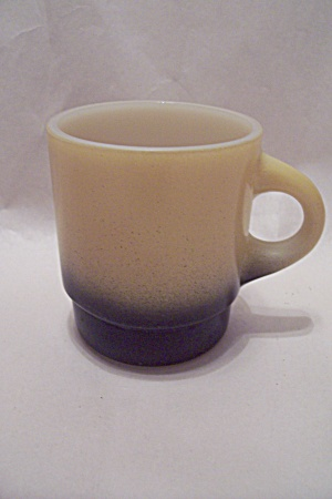 FireKing Light Yellow With Black Base Mug (Image1)