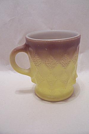 FireKing Tan & Lemon Yellow Kimberly Mug (Image1)