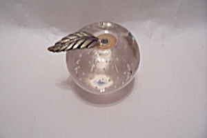 Glass Apple Paperweight (Image1)