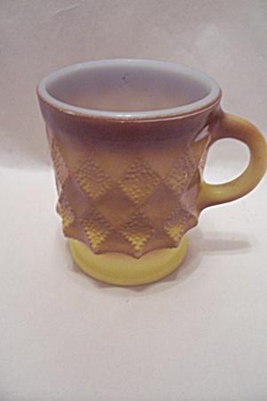 FireKing Kimberly Yellow & Brown Mug (Image1)