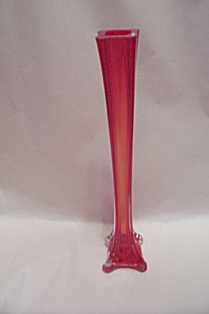 Handblown Cased Red Art Glass Bud Vase (Image1)