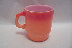 FireKing Orange & Red Mug (Image1)