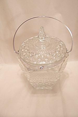 Wexford Pattern Ice Bucket W/Lid And Tongs (Image1)
