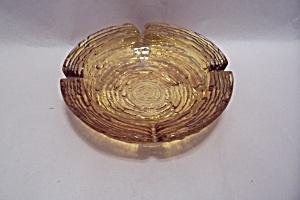 FireKing Soreno Pattern Honey Gold Ash Tray (Image1)