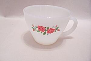 FireKing Rose Pattern Cup (Image1)