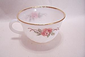 FireKing/Anchor Hocking Rose Pattern Cup (Image1)