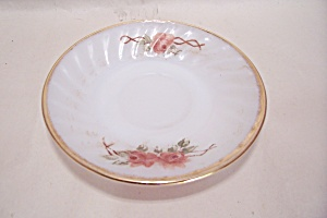 FireKing/Anchor Hocking Rose Pattern Saucer (Image1)