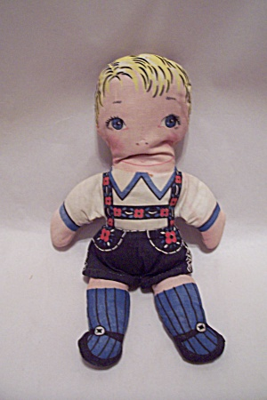 German Handmade Fabric Boy Doll (Image1)