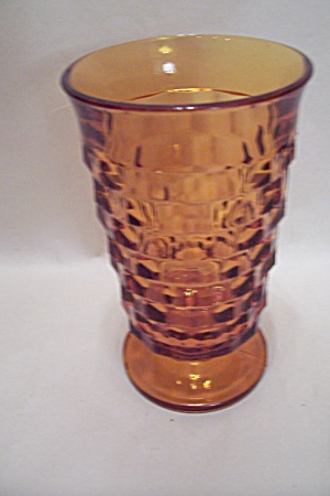 Indiana Glass Whitehall Pattern Amber Pedestal Tumbler (Image1)