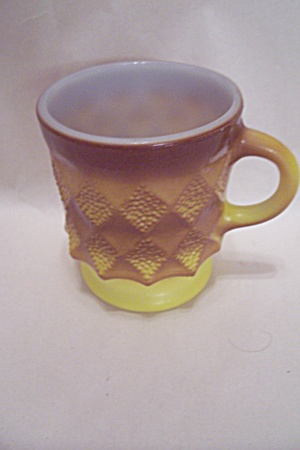 FireKing Brown & Yellow Glass Kimberly Mug (Image1)