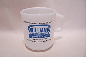 Galaxy Advertising Mug For Williams Roustabout Service