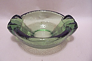 Green Glass Ash Tray