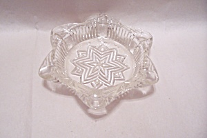 Crystal Glass Star Pattern Ash Tray