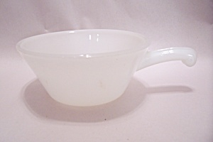 Fireking/anchor Hocking White Glass Casserole With Hand
