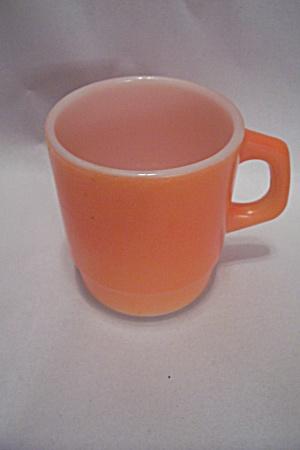 Fireking/anchor Hocking Orange Stackable Coffee Mug