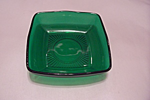 Fireking/anchor Hocking Charm Forest Green Soup Bowl