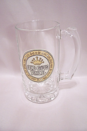 Old Guys Rule Crystal Glass Beer Mug (Image1)