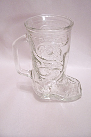 Cowboy Boot Crystal Glass Beer Mug (Image1)