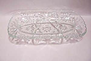 Early American Prescut Crystal Glass Serving Tray (Image1)