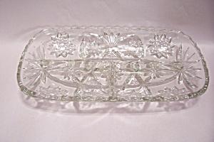 Early American Prescut Crystal Glass Relish Dish (Image1)