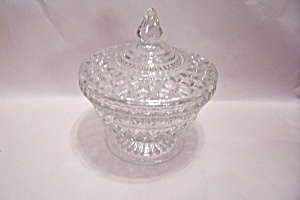Wexford Pattern Crystal Glass Candy Dish With Lid (Image1)