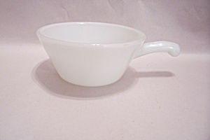 FireKing White Glass 12 Ounce Handled Casserole (Image1)