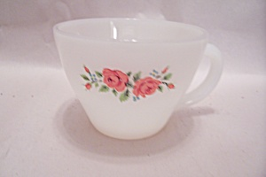 FireKing/Anchor Hocking Two Roses Pattern Cup (Image1)
