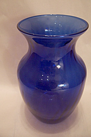 Indiana Glass Cobalt Blue Illusion Handblown Vase (Image1)